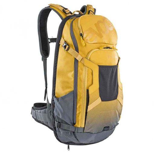 EVOC FR Trail E-Ride Protector Backpack 20L Loam/Carbon Gray ML - 100114607-M/L
