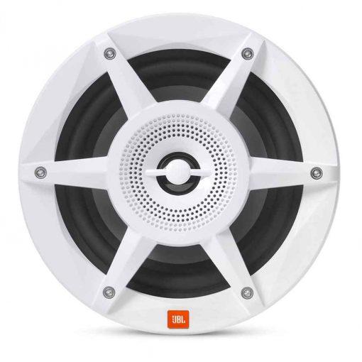 JBL 8 Inch Coaxial RGB Marine Speakers White Stadium Series - STADIUMMW8030AM