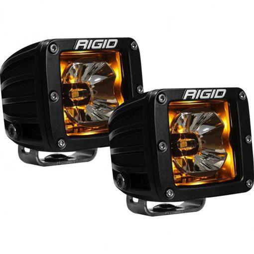 Rigid Industries Radiance Pod Amber Backlight Black Housing - Pair - 20204