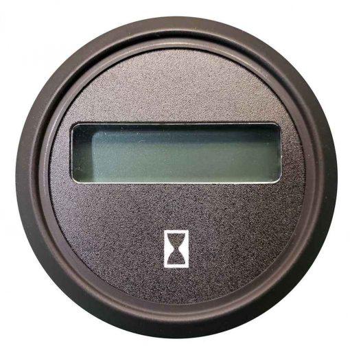 Faria Beede Instruments 2 Inch Cummins Hourmeter Euro Black with Black Bezel - 961110