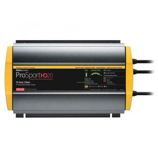 Pro Mariner Prosporthd 20 Gen 4 20 AMP 2 Bank Battery Charger - 44020