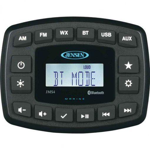 Jensen 4 Inch Jms4Rtl Waterproof Bt/Am/Fm/Weatherband/USB - JMS4RTL