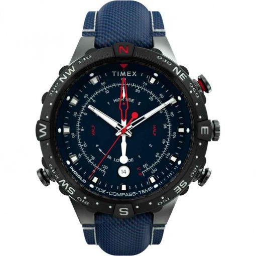 Timex Allied 45mm Tide Temp Compass - Gunmetal & Blue - TW2T76300JV