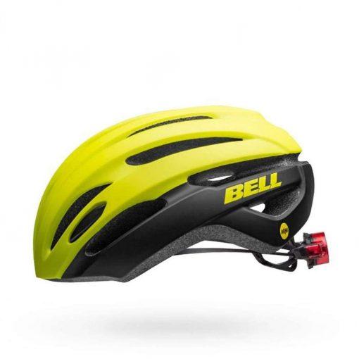 Bell Adult Avenue MIPS LED Road Bike Helmet - Matte/Gloss Hi-Viz Black - 7114334