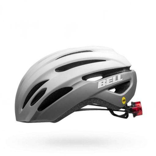 Bell Adult Avenue MIPS LED Road Bike Helmet - Matte/Gloss White Gray - 7114336