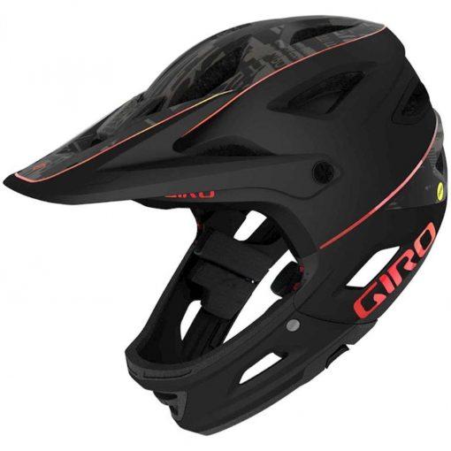 Giro Adult Switchblade MIPS Full Face Downhill Bike Helmet - Matte Black Hypnotic - 711415