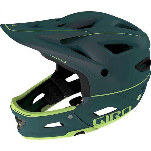 Giro Adult Switchblade MIPS Full Face Downhill Bike Helmet - Matte True Spruce/Citron - 711416