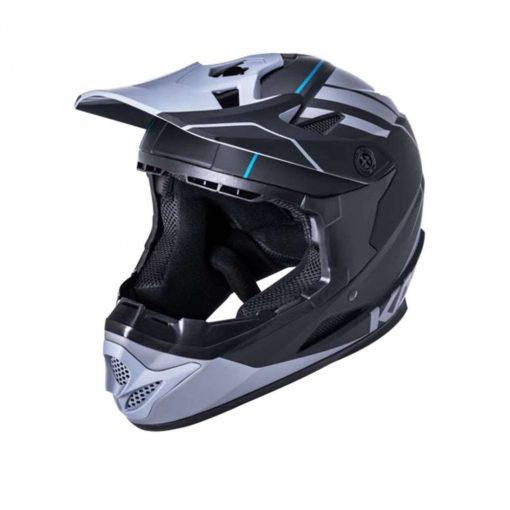 Kali Protectives Adult Zoka BMX Bike Helmet - Eon Matte Black/Gray - 021062011