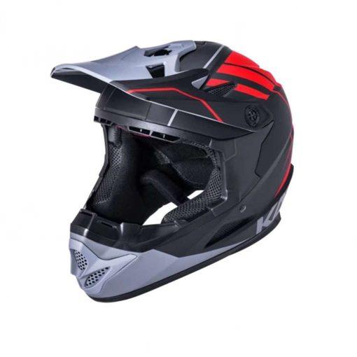 Kali Protectives Kid's Zoka Youth BMX Bike Helmet - Eon Matte Black/Red/Gray - 021062012