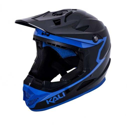 Kali Protectives Adult Zoka BMX Bike Helmet - Grit Gloss Black/Blue - 021061911