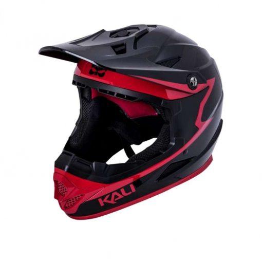 Kali Protectives Adult Zoka BMX Bike Helmet - Grit Gloss Black/Red - 021061912