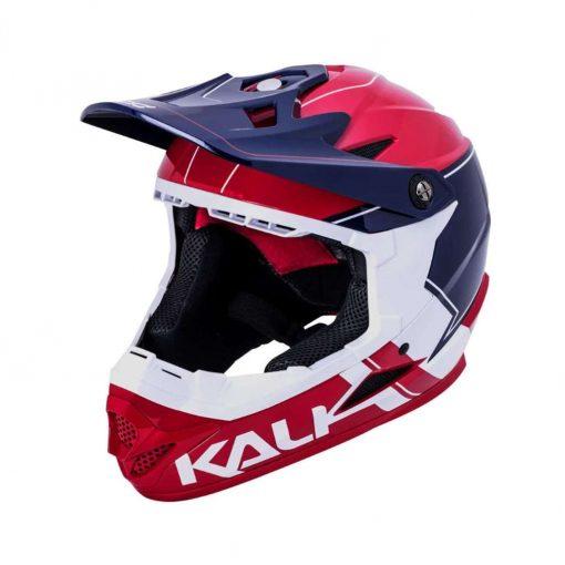 Kali Protectives Adult Zoka BMX Bike Helmet - Switchback Gloss Red/White/Blue - 021061933