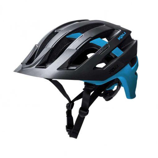 Kali Protectives Adult Interceptor MTB Cycling Helmet - Dual Matte Black/Blue - 022131712