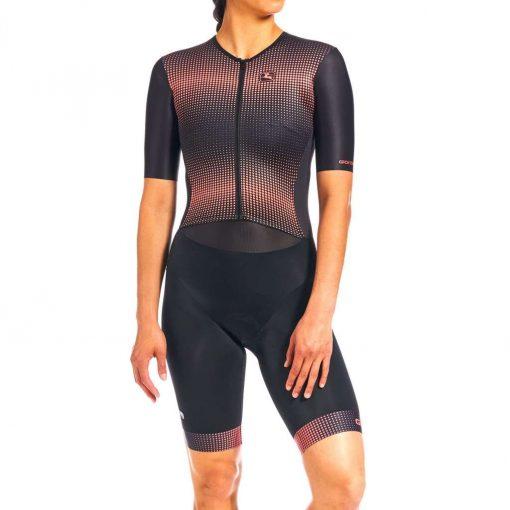 Giordana 2020 Women's Vero Pro Tri Short Sleeve Cycling Doppio Suit - GICS20-WSSD-VETR