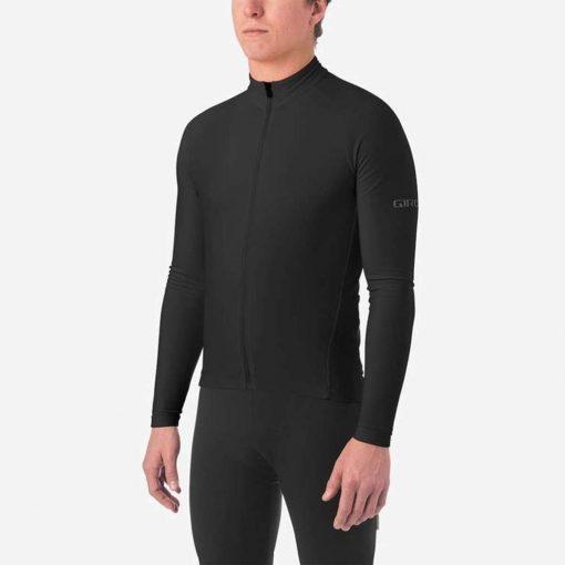 Giro Men's Chrono Thermal Long Sleeve Cycling Jersey - Black - 711060