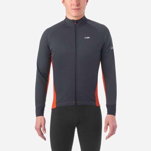 Giro Men's Chrono Pro Windbloc Long Sleeve Cycling Jersey - Vermillion - 710702