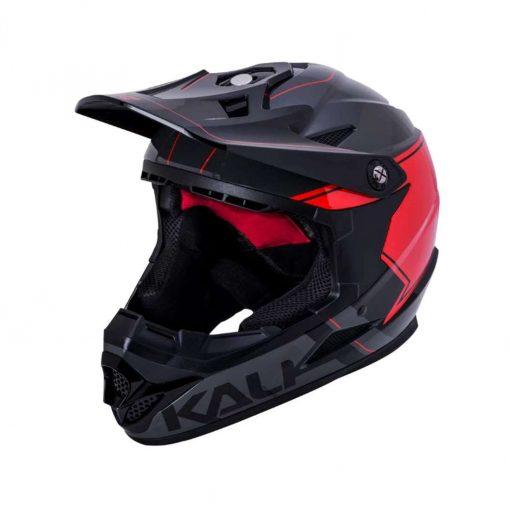 Kali Protectives Adult Zoka BMX Bike Helmet - Switchback Gloss Gray/Red/Black - 021061931