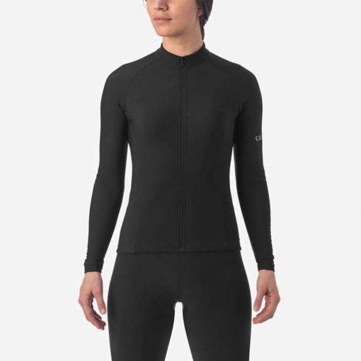 Giro Women's Chrono Thermal Long Sleeve Cycling Jersey - Black - 71106