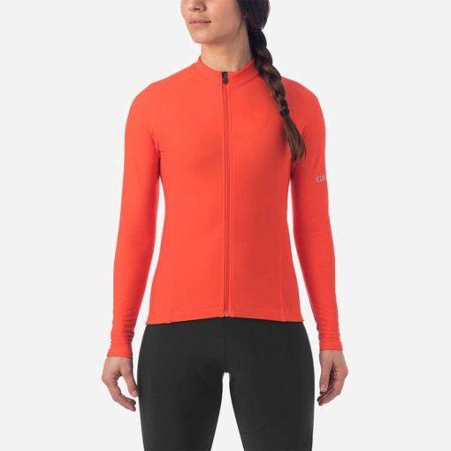 Giro Women's Chrono Thermal Long Sleeve Cycling Jersey - Vermillion - 71070