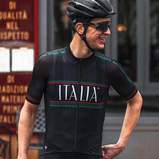 Giordana x Knowlita Men's Italia Smiley FR-C Pro Short Sleeve Cycling Jersey - Tre Colore - GICS19-SSJY-KNOW-ITBK