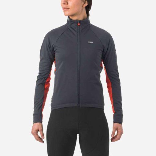 Giro Women's Chrono Pro Alpha Cycling Jacket - Vermillion - 71069
