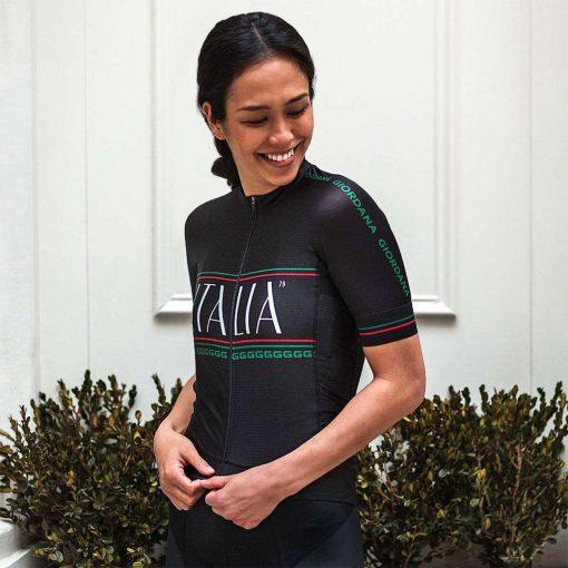 Giordana x Knowlita Women's Italia Smiley FR-C Pro Short Sleeve Cycling Jersey - Tre Colore - GICS19-WSSJ-KNOW-ITBK