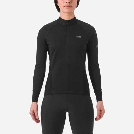 Giro Women's Chrono Pro Windbloc Long Sleeve Cycling Jersey - Black - 710703