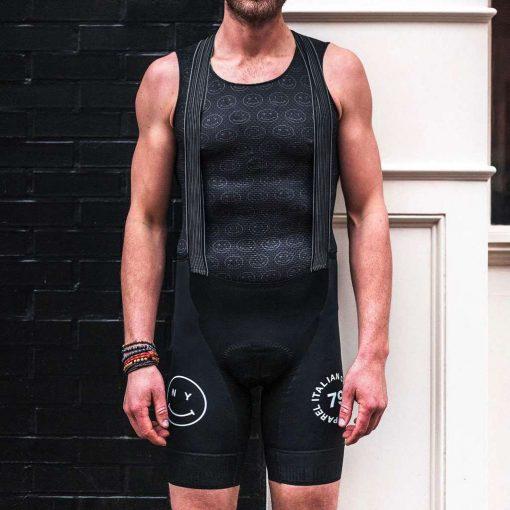 Giordana x Knowlita Men's New York Smiley Scatto Pro Bib Cycling Shorts - GICS19-BIBS-KNOW-NYBK