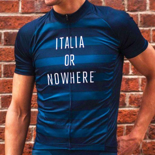 Giordana x Knowlita Men's ITALIA OR NOWHERE Vero Pro Fit Short Sleeve Cycling Jersey - GICS19-SSJY-KNOW-ITNO