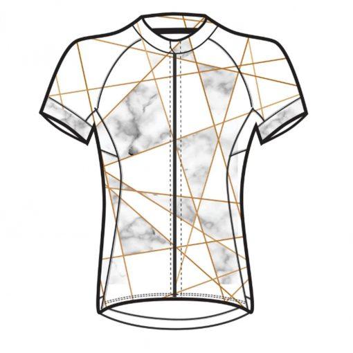Shebeest Women's Divine Short Sleeve Cycling Jersey - Venetian Black/White - 3238-VNBW