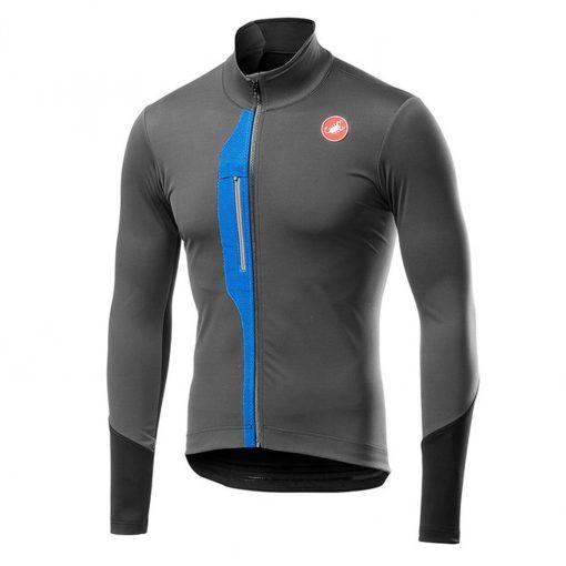 Castelli Men's Transparente V Long Sleeve Cycling Jersey - Dark Gray - A19509030