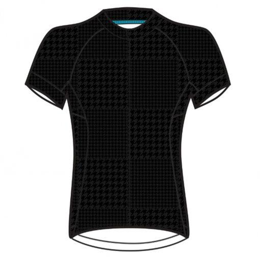 Shebeest Women's Divine Short Sleeve Cycling Jersey - Tonal Houndstooth Black - 3238-THBK