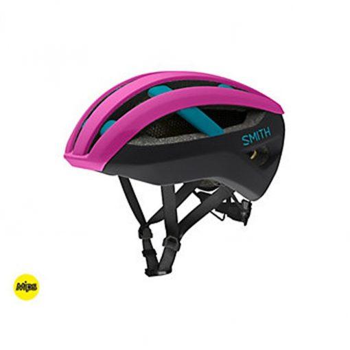 Smith Men's Network MIPS Cycling Helmet - Matte Hibiscus/Black/Teal - E0073202L