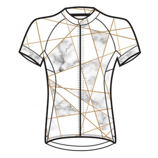 Shebeest Women's Divine Plus Short Sleeve Cycling Jersey - Venetian Black/White - 3238P-VNBW