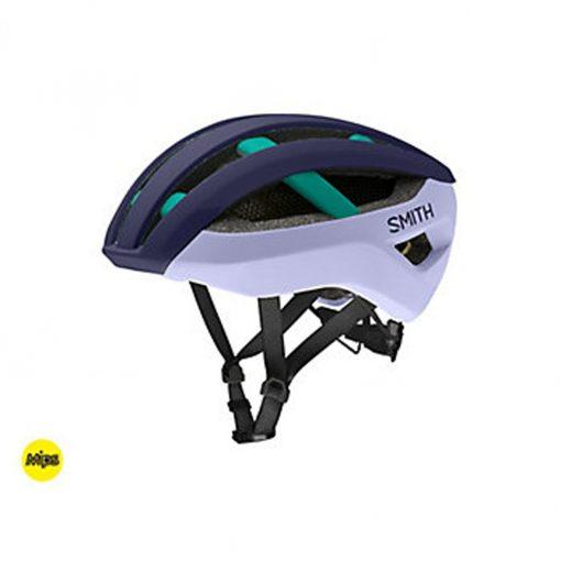 Smith Men's Network MIPS Cycling Helmet - Matte Indigo/Iris/Jade - E0073203I
