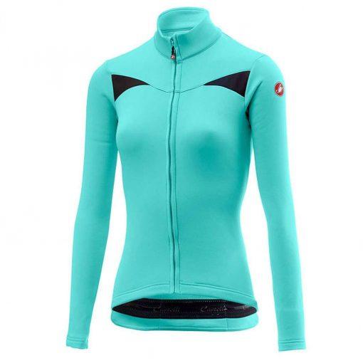 Castelli Women's Sinergia Long Sleeve Full-Zip Cycling Jersey - Glacier Lake - A18545016