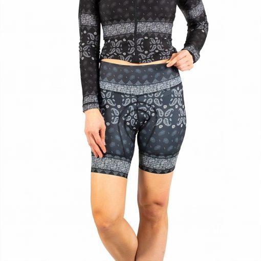 Shebeest Women's Petunia Kerchief-Black Cycling Short - 3098-KFBK