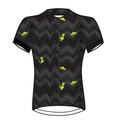 Shebeest Women's Divine Plus Short Sleeve Cycling Jersey - Janet Black - 3238P-JTBK