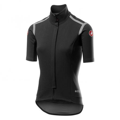 Castelli Women's Gabba Ros Short Sleeve Cycling Jersey - Light Black - B19536085