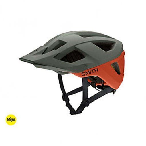 Smith Men's Session MIPS MTB Cycling Helmet - Matte Sage/Red Rock - E0073104W