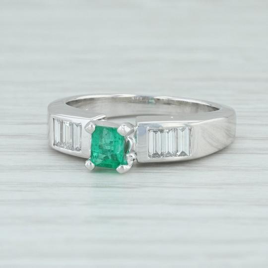 .81ctw Emerald Diamond - 18k Engagement Ring