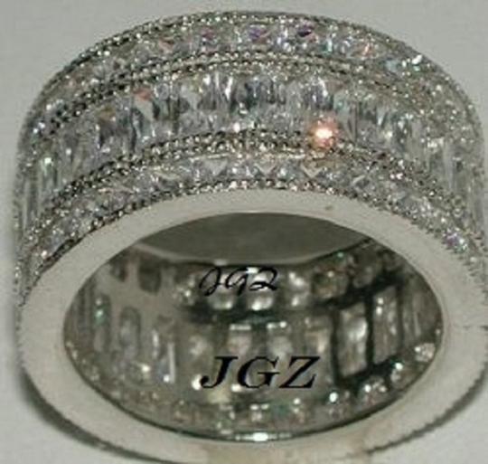.925 Silver Anniversary / Eternity Triple * * Free Gift Box * Women's Wedding Band