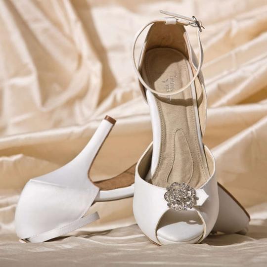 Angela Nuran  Diamond Silk White Starletta Ivory Platforms