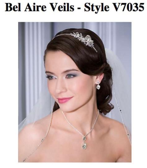 Bel Aire Bridal  Diamond White Medium Style V7035 Bridal Veil