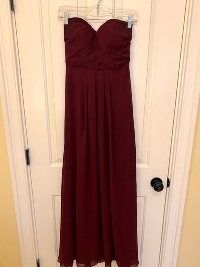 Bill Levkoff  Wine Chiffon Style 7008 Formal Bridesmaid/Mob Dress