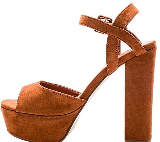 Other  Caramel Twiggy Heel In Bordeaux Platforms