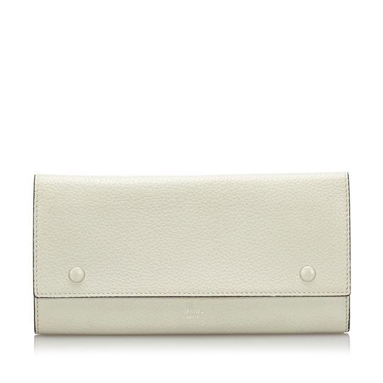 Céline  Céline White Long Leather Wallet