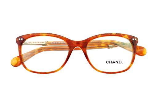 Chanel  Brown Ch 3252 C.1389 53mm Cats Eye Eyeglasses Rx Frames Italy