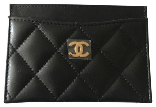 Chanel  C3906 (Black Exterior Burgundy Interior) Cardholder Ap0213 Wallet