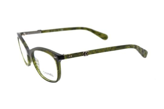 Chanel  Green Ch 3252 C.1394 Quilted Eyeglasses Rx Frames 53mm Italy